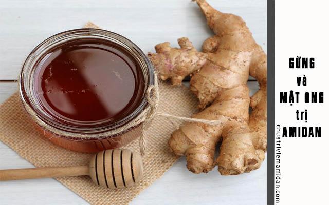 Áp dùng dùng gừng và mật ong trị viêm amidan