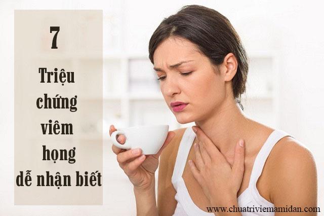Dấu hiệu bệnh viêm họng