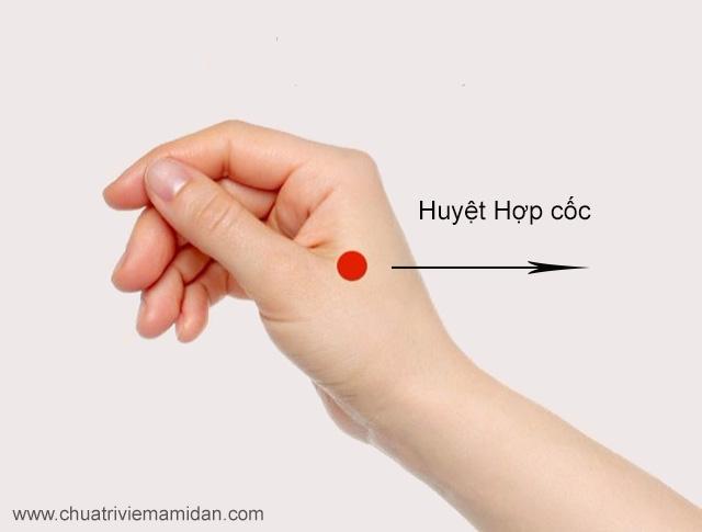 cách trị nghẹt mũi bằng bấm huyệt