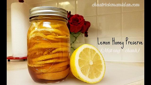 Chữa khàn tiếng bằng mật ong và chanh