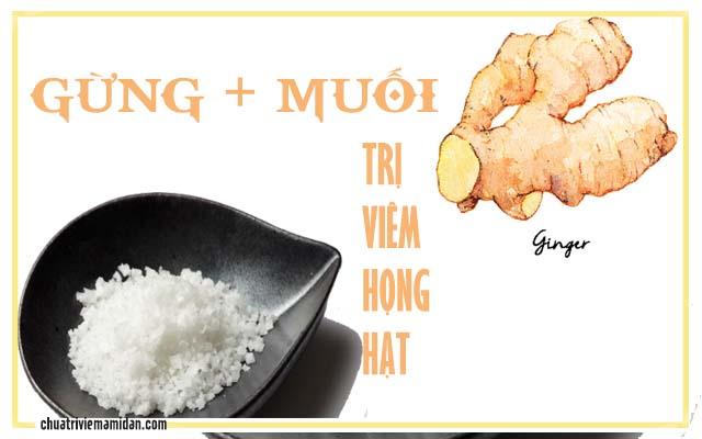 Chữa viêm họng hạt bằng muối