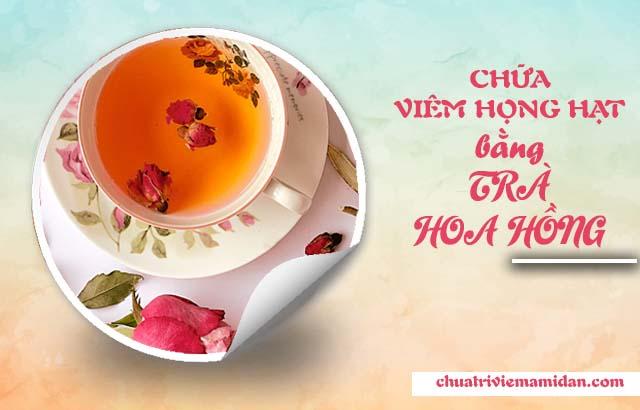 Điều trị viêm họng hạt tại nhà với trà hoa