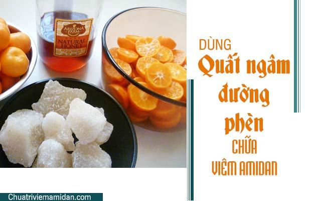 Chữa Amidan tại nhà với quả quất