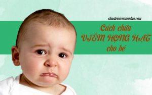 cách chữa viêm họng hạt cho bé