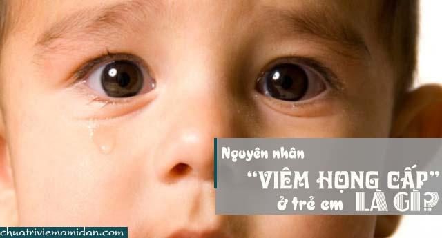 Nguyên nhân gây viêm họng cấp tính trẻ em