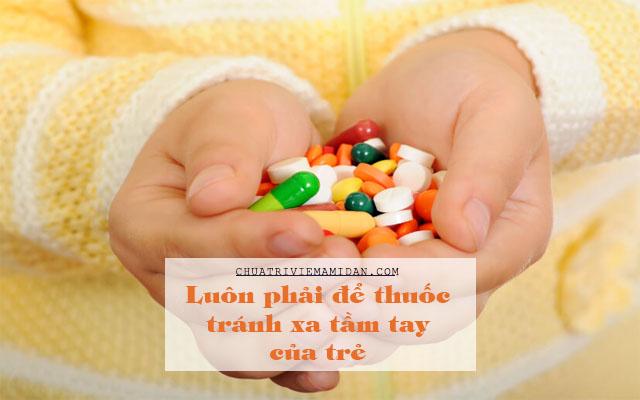 trẻ uống thuốc ho quá liều
